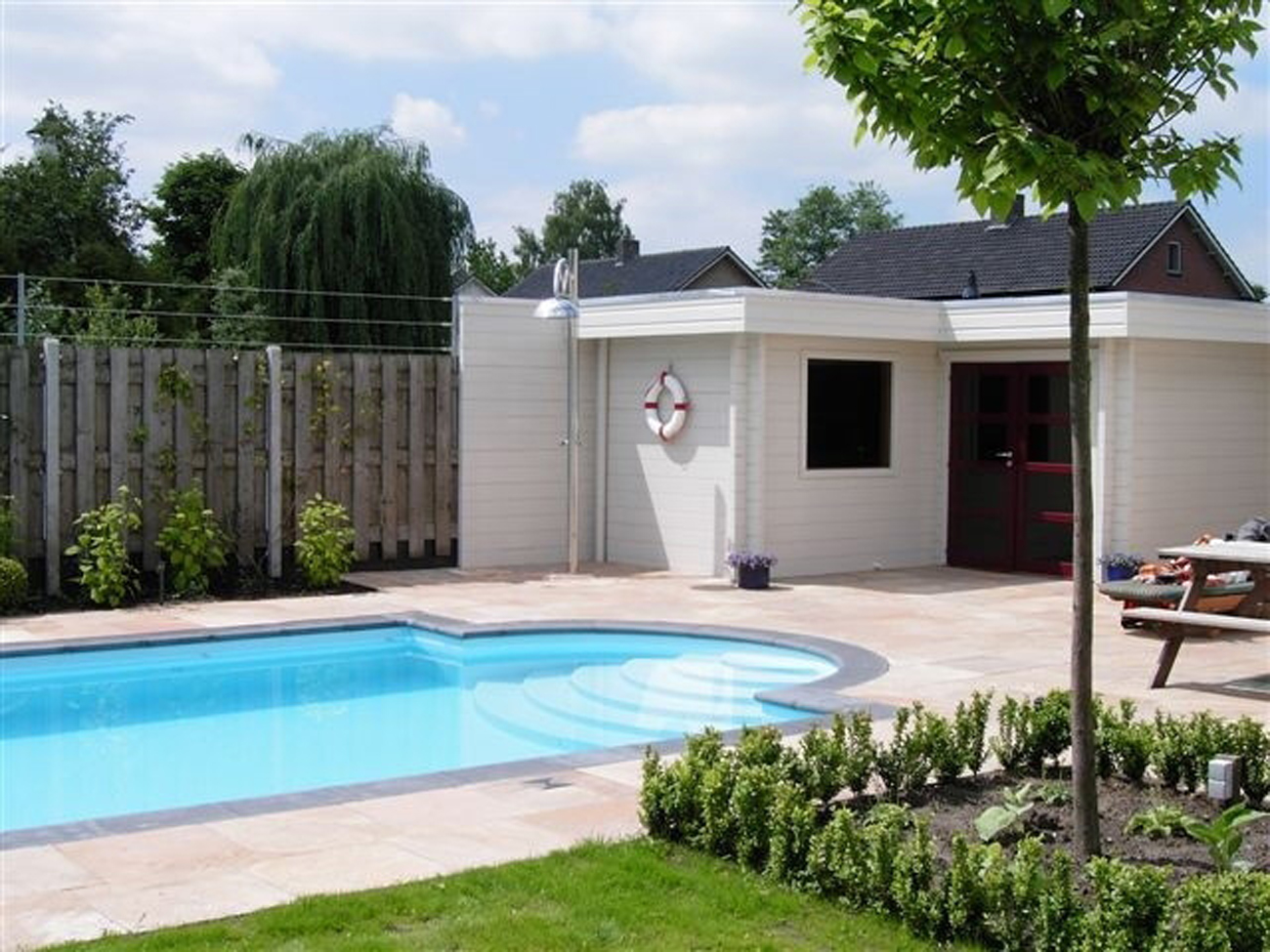 Gamme modern lorenne contructions - Photos pool house piscine ...