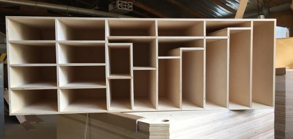 Exemple de réalisation d'une étagère sur mesure